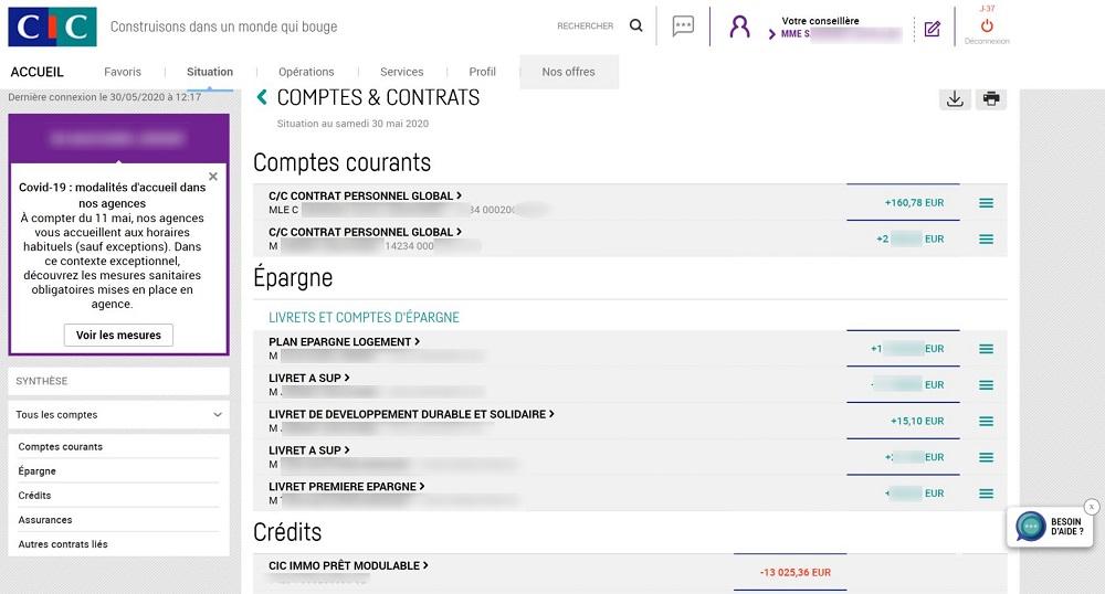 consultation comptes bancaires cic filbanque