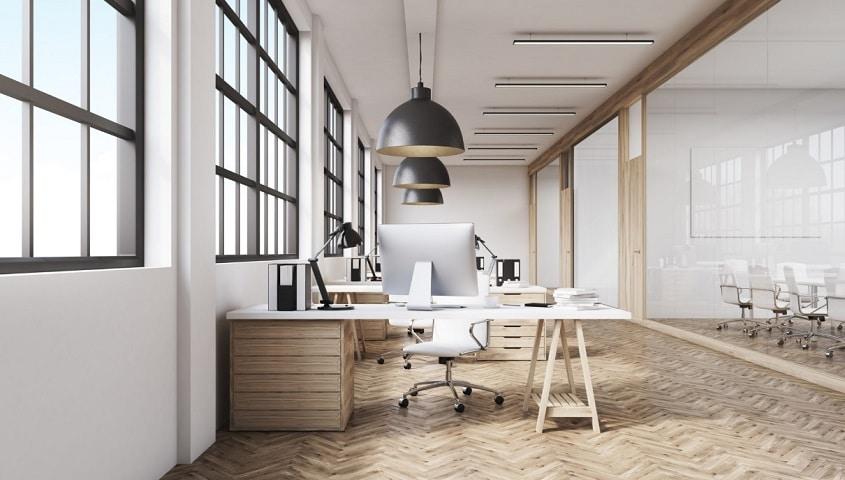 Les bureaux d'une entreprise